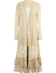 Gypsy Junkies for free people ruffle lace duster s